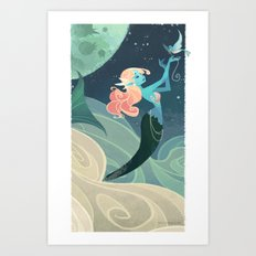 Sky Mermaid Art Print