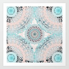 Boho Shell Mandalas Art Print
