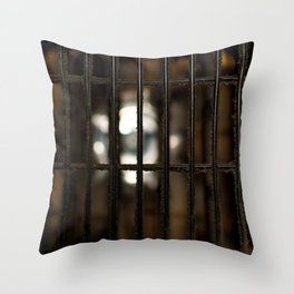 Dusty fan guard Throw Pillow