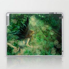 Abstract illustration of fairy fly in the forest Laptop & iPad Skin