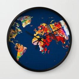 World Map 24 Wall Clock