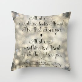 """I See the Light"" by Mandy Moore and Zachary Levi from the movie ""Tangled"" Throw Pillow"