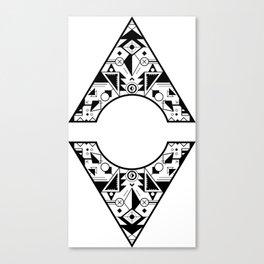 Aztec Diamond Canvas Print