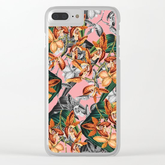 FLORAL PATTERN-07 Clear iPhone Case