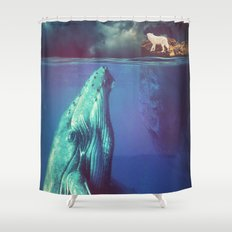 The Whale and the Wolf Shower Curtain