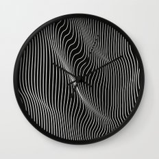 Minimal curves black Wall Clock