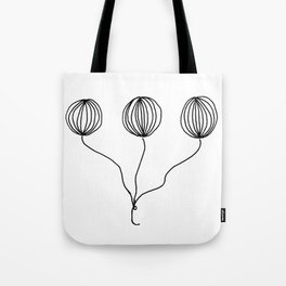 Whimsical Balloon Drawing by Emma Freeman Designs Tote Bag
