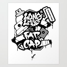 Long Life 2 The Fatcap [PAINTINMYVEINS] Art Print