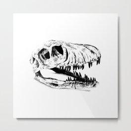 Dino Skull Metal Print
