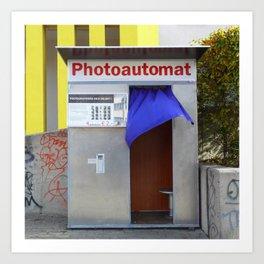Berlin's old photo booths 03 Art Print