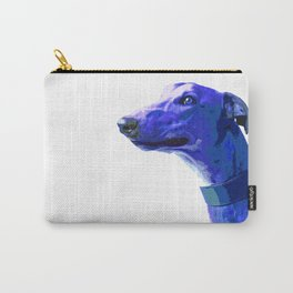 Greyhound. Blue dog Pop Art portrait. Hunting dog. Carry-All Pouch