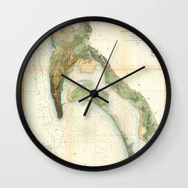 San Diego Bay 1857 Wall Clock