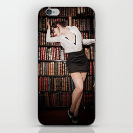 """Hot for Reading"" - The Playful Pinup - Sexy Librarian Pin-up Girl by Maxwell H. Johnson iPhone Skin"