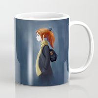 backpack Mugs featuring Rainy Days by Freeminds