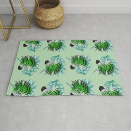 Green Zebracorn Rug