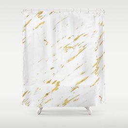 Vasia gold marble Shower Curtain
