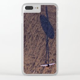 Surfer in Sunset Clear iPhone Case