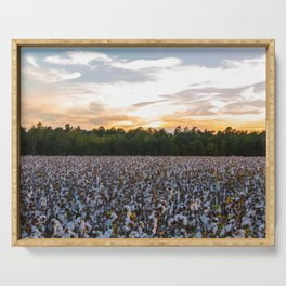 Cotton Field 11 Serving Tray