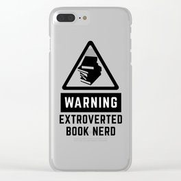 Warning: Extroverted Book Nerd Clear iPhone Case
