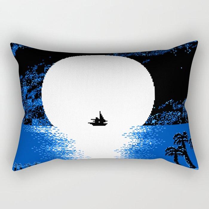 Gazing the Moon at the Celestial Seashore Rectangular Pillow