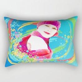 Creative Woman Rectangular Pillow