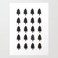 christmas tree Art Prints featuring Christmas Tree by uzualsunday