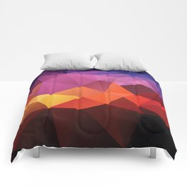 Abstract geometric triangle background Comforters