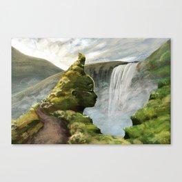 Waterfall Guardian Canvas Print