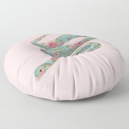 FLORAL SNAKE Floor Pillow