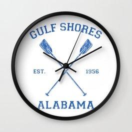 Gulf Shores Alabama Vacation Wall Clock