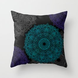 My Spirit Mandhala | Secret Geometry Throw Pillow