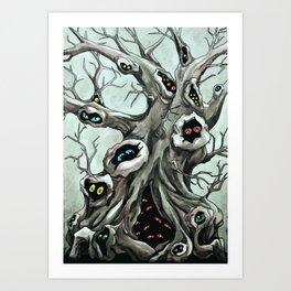 Peepers Art Print