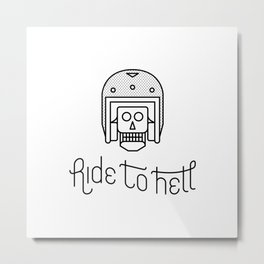 Ride To Hell Metal Print