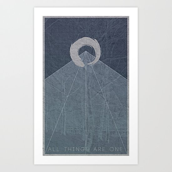 All Things Are One Art Print