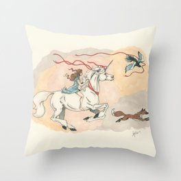 Cadence and the Unicorn Throw Pillow