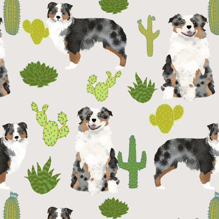 Australian Shepherd owners dog breed cute herding dogs aussie dogs animal pet portrait cactus Leggings