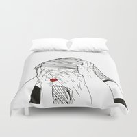 introvert Duvet Covers featuring Introvert 2 by Heidi Banford