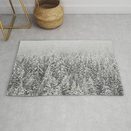 Black & White Forest Rug