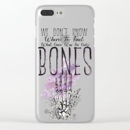 In Our Bones Clear iPhone Case