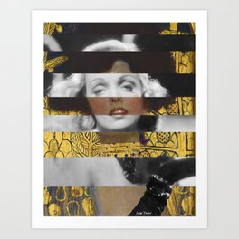 Klimt's Judith and the Head of Holofernes & Marlene Art Print