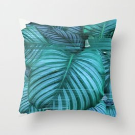 Fast Calathea Throw Pillow