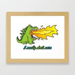 Dragon don't care Framed Art Print