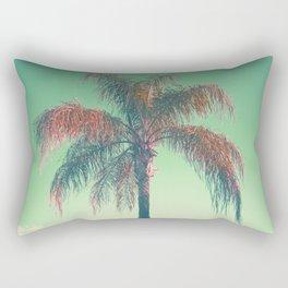 Red palm tree Rectangular Pillow
