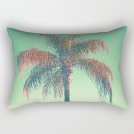 Red palm tree Rectangular Pillow
