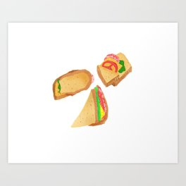 Akward Sandwich Art Print