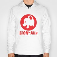 thundercats Hoodies featuring Lion-ahh by Mike Nieuwstraten