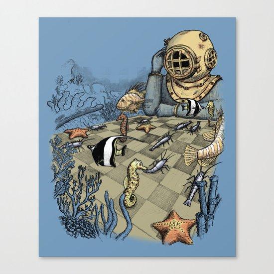 Deep Sea Chessmaster  Canvas Print