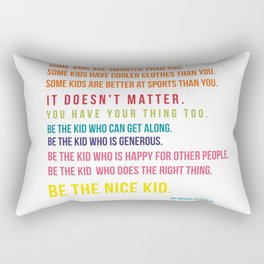 Be the nice kid #minimalism #colorful Rectangular Pillow