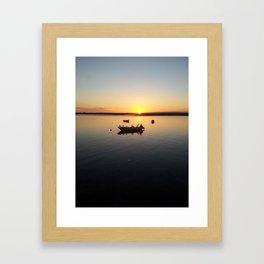 Atardecer Huelva Framed Art Print