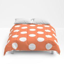 Polka Dots (White/Coral) Comforters